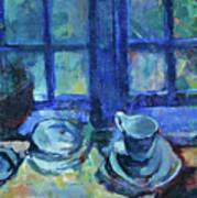 The Blue Kitchen Art Print