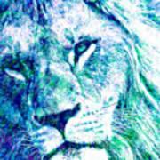 The Blue Lion Art Print