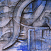 The Blue Machine Art Print