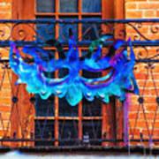 The Blue Mask Art Print