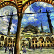 The Blue Mosque Istanbul Art Art Print