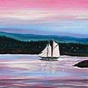 The Blue Nose II At Baddeck Nova Scotia Art Print