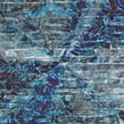The Blue Wall Art Print