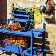 The Blue Wheelbarrow Art Print