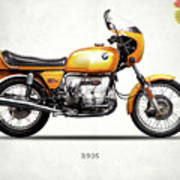 The R90s Motorcycle 1974 Art Print