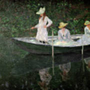 The Boat At Giverny Art Print by Claude Monet