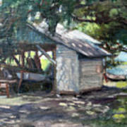 The Boathouse At Historic Spanish Point Park, Osprey, Fl Art Print