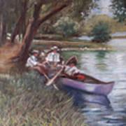 The Boating Men Art Print