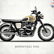 The Bonneville T100 Art Print