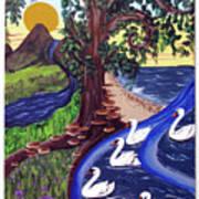 The Bonny Swans Art Print