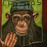 The Book Of Chimps Art Print