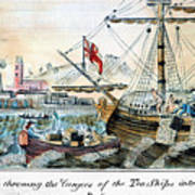 The Boston Tea Party, 1773 Art Print