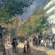 The Boulevards  Print by Pierre Auguste Renoir
