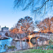 The Bow Bridge In Central Park Art Print