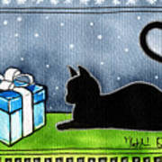 The Box Is Mine - Christmas Cat Art Print