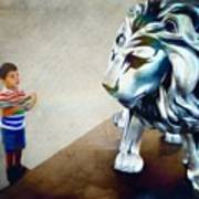 The Boy And The Lion 10 Art Print