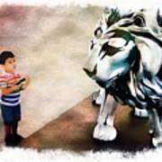 The Boy And The Lion 9 Art Print