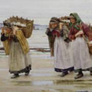 The Breadwinners Or Newlyn Fishwives Art Print