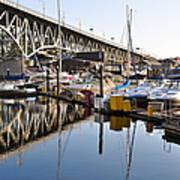 The Bridge And Marina Art Print