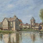 The Bridge And Mills Of Moret Sur Loing Art Print
