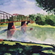 The Bridge At Ft. Benton Art Print by Andrew Gillette
