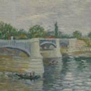 The Bridge At Courbevoie Paris, May - July 1887 Vincent Van Gogh 1853  1890 Art Print