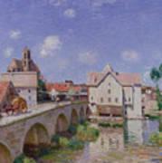 The Bridge At Moret Art Print