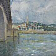 The Bridge At Saint Cloud Art Print