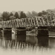 The Bridge At Washingtons Crossing Art Print by Bill Cannon