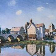 The Bridge Of Moret In The Sunlight Art Print