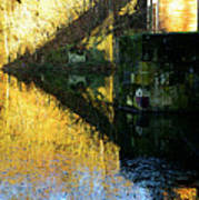 The Bridge On The River And Its Shadow. Art Print