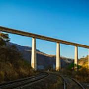 The Bridge Over The Railways Art Print