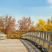 The Bridge To Autumn Art Print