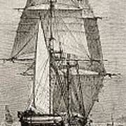 The Brig Hms Beagle From Journal Of Art Print