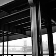 The Brooklyng Bridge And Manhattan Bridge From Fdr Drive Art Print