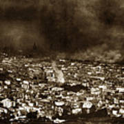 The Burning Of San Francisco Panoramic View Of San Francisco From Twin Peaks April 1906 Art Print