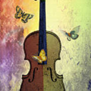 The Butterflies And The Violin Art Print