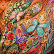 The Butterflies On Wind Art Print