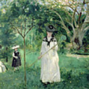 The Butterfly Hunt Print by Berthe Morisot