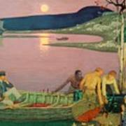 The Call Of The Sea Art Print by Frederick Cayley Robinson