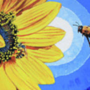 The Call of the Sunflower Art Print
