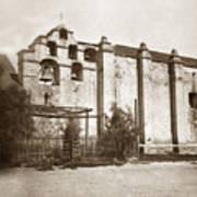 The Campanario, Or Bell Tower Of San Gabriel Mission Circa 1880 Art Print