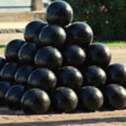 The Cannonballs At The Battery In Charleston Sc Art Print