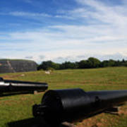 The Cannons At Fort Moultrie In Charleston Art Print