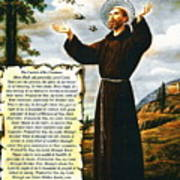 The Canticle Of The Creatures By St. Francis Of Assisi Art Print