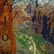 The Canyon Of Zion Art Print