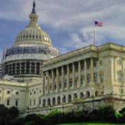 The Capitol Under Construction Art Print