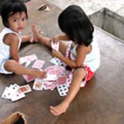 The Card Players 5 Art Print