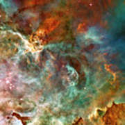 The Carina Nebula Panel Number Three Out Of A Huge Three Panel Set Art Print