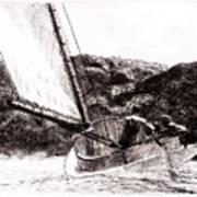 The Cat Boat, Edward Hopper Art Print